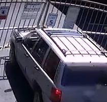 Gate Crash Caught on Camera